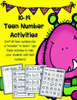 https://www.teacherspayteachers.com/Product/Teen-Number-Activities-1421353