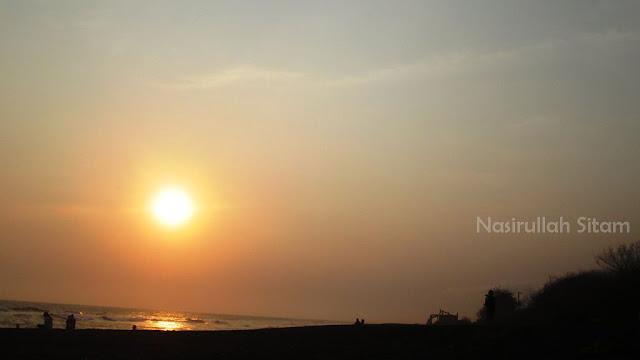 Sunset di pantai Baru, Bantul
