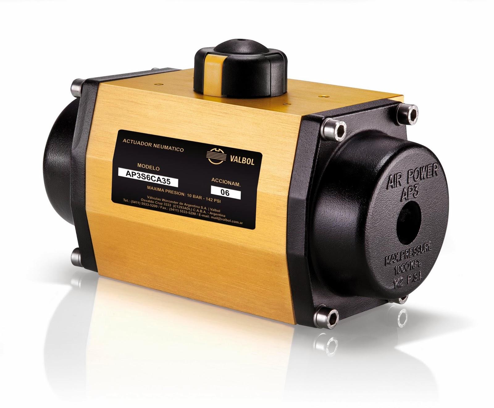 actuador neumatico electrico valbol