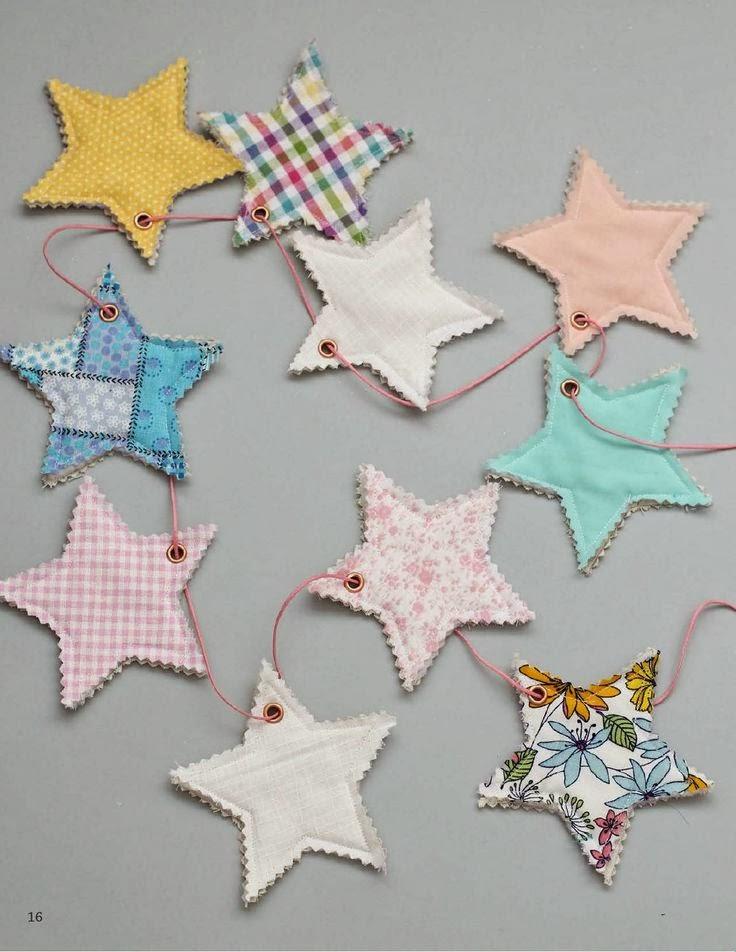 guirnalda estrellas diy