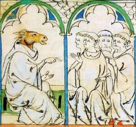 A Ars Nova surge em um tratado de Philippe de Vitry, diplomata, bispo e músico, nomeando o novo estilo de composição em oposição à Ars Antiqua. Vitry compõe músicas para o Roman de Fauvel (figura abaixo), um poema satírico onde Fauvel é um burro em forma humana, apresentando todos os seus vícios. Seu nome é formado pelas iniciais destes pecados:       Flattelerie (bajulação)     Avarice (Avareza)     Vanité (Vaidade)     Vilénie (Baixeza)     Envie (Inveja)     Lâcheté (Covardia)