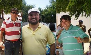 O trio ternura da politica senadorsaense marca presença na final entre botafogo e flamento.