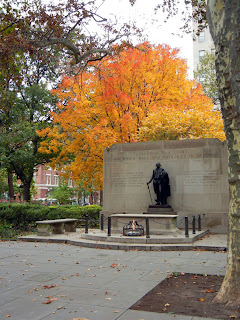 The Tomb of the Unknown Soldier in Washington Square in Philadelphia