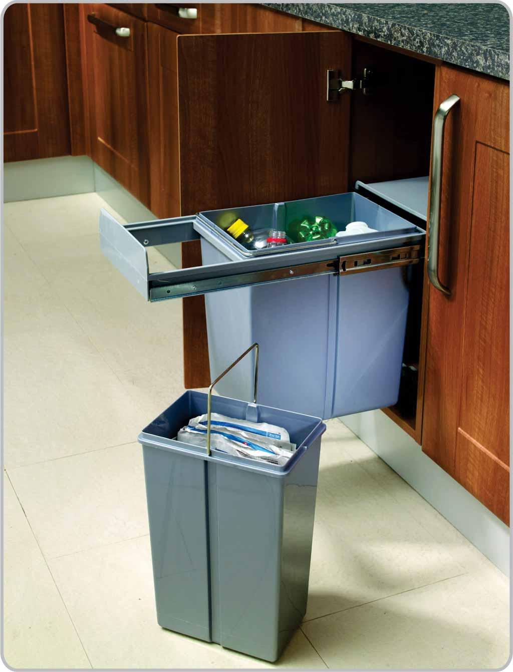 Cocina organizada - Cubos basura cocina ...