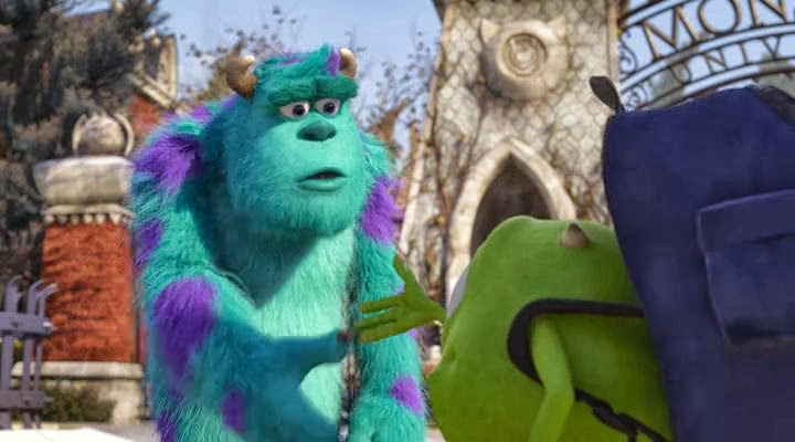 Screen Shot Of Monsters University (2013) English Movie 300MB Short Size PC Movie