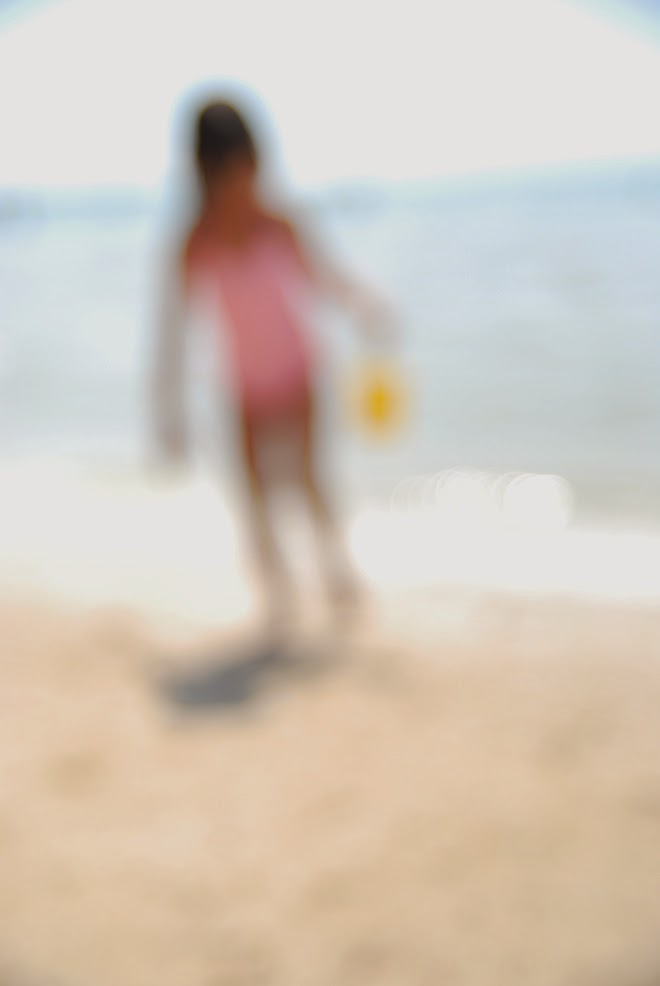 diy blurred beach photo art inspired by Thom Filicia