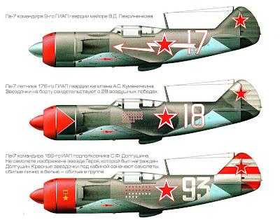 Окраска истребителя Ла-7