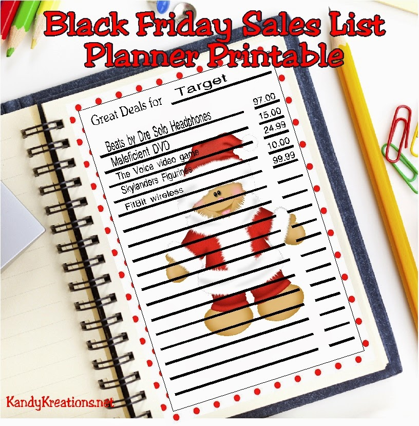 Going shopping on Black Friday? Here's a free planner printable so you can make your shopping list fun and cute while being organized enough to shop amidst the chaos.