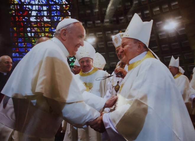Dom Marcos Piatek e o papa Francisco - JMJ - Rio de Janeiro - 2013