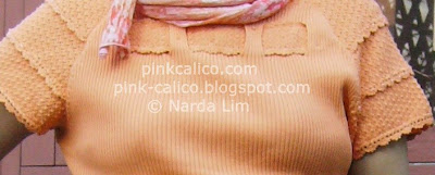 Pink Calico: Orange Basket Top