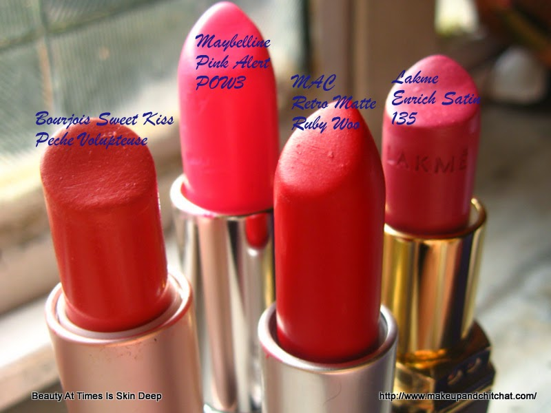 Lipstick favorites of May Bourjois MAC Lakme Maybelline