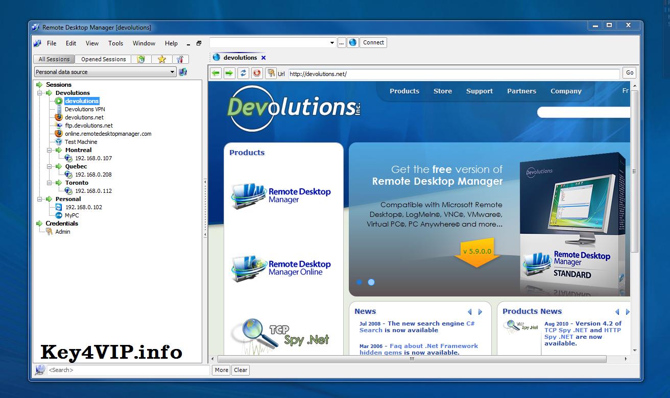 Devolutions Remote Desktop Manager Enterprise 10.0.8.0 Full Key,Phần mềm quản lý điều khiển máy tính từ xa