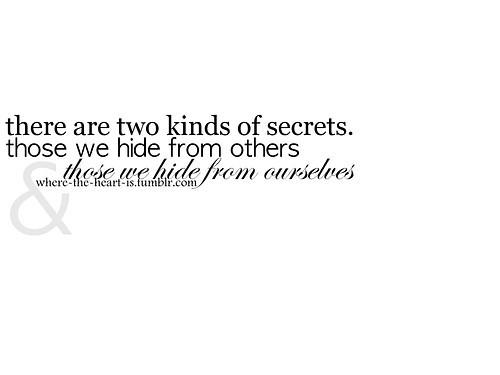 Hiding secrets in relationships
