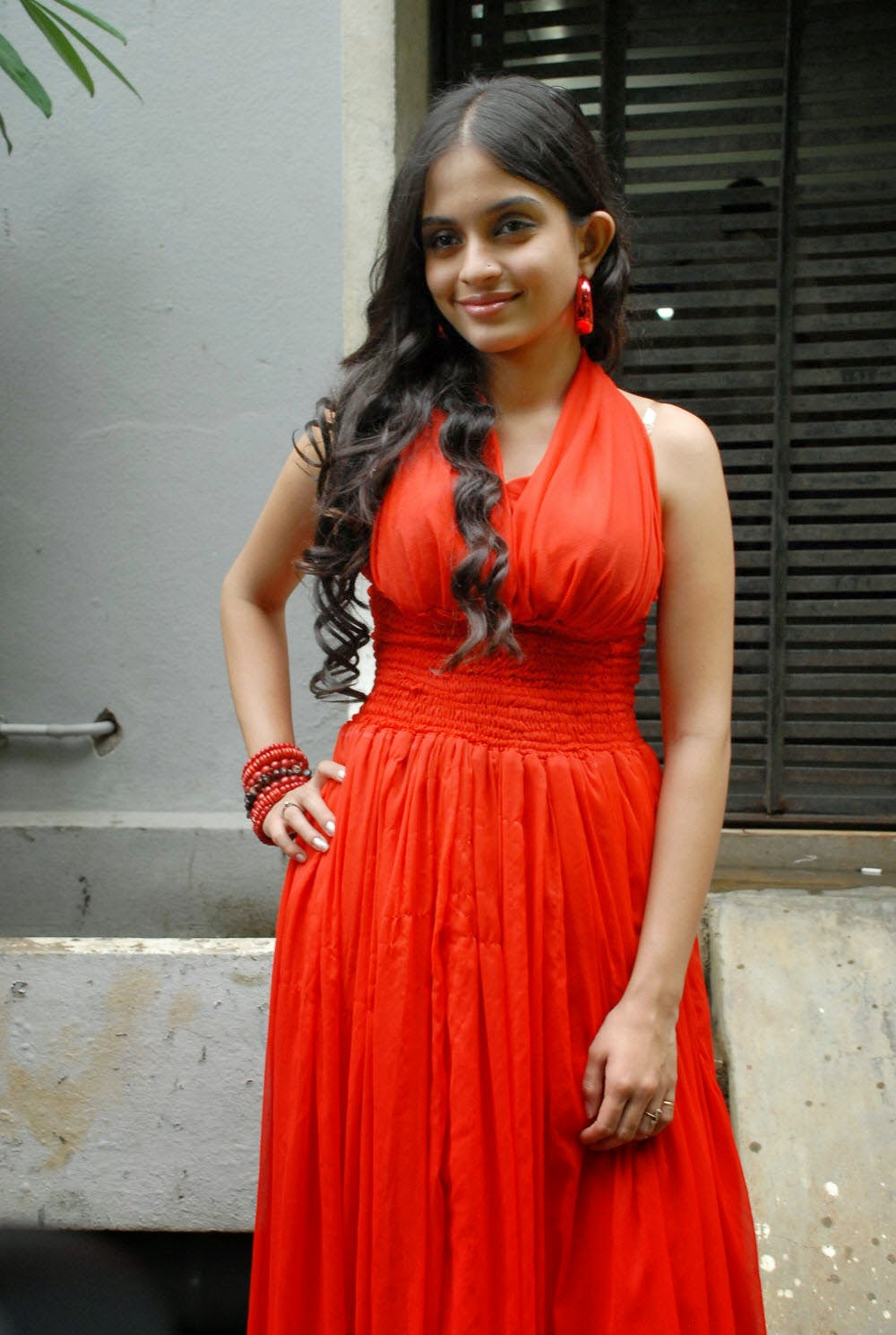 Actress Sheena Shahabadi Latest Cute Hot Exclusive Red Dress Spicy Photos Gallery
