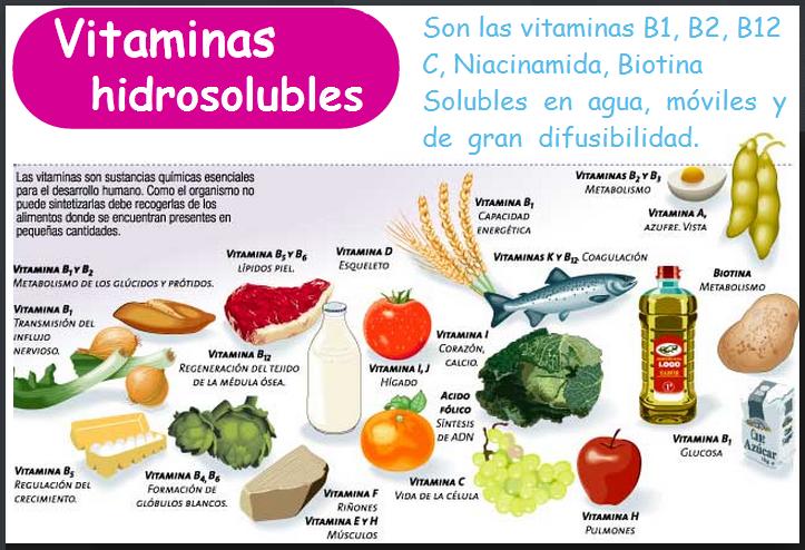 Las Vitaminas Liposolubles y Hidrosolubles - Banco de