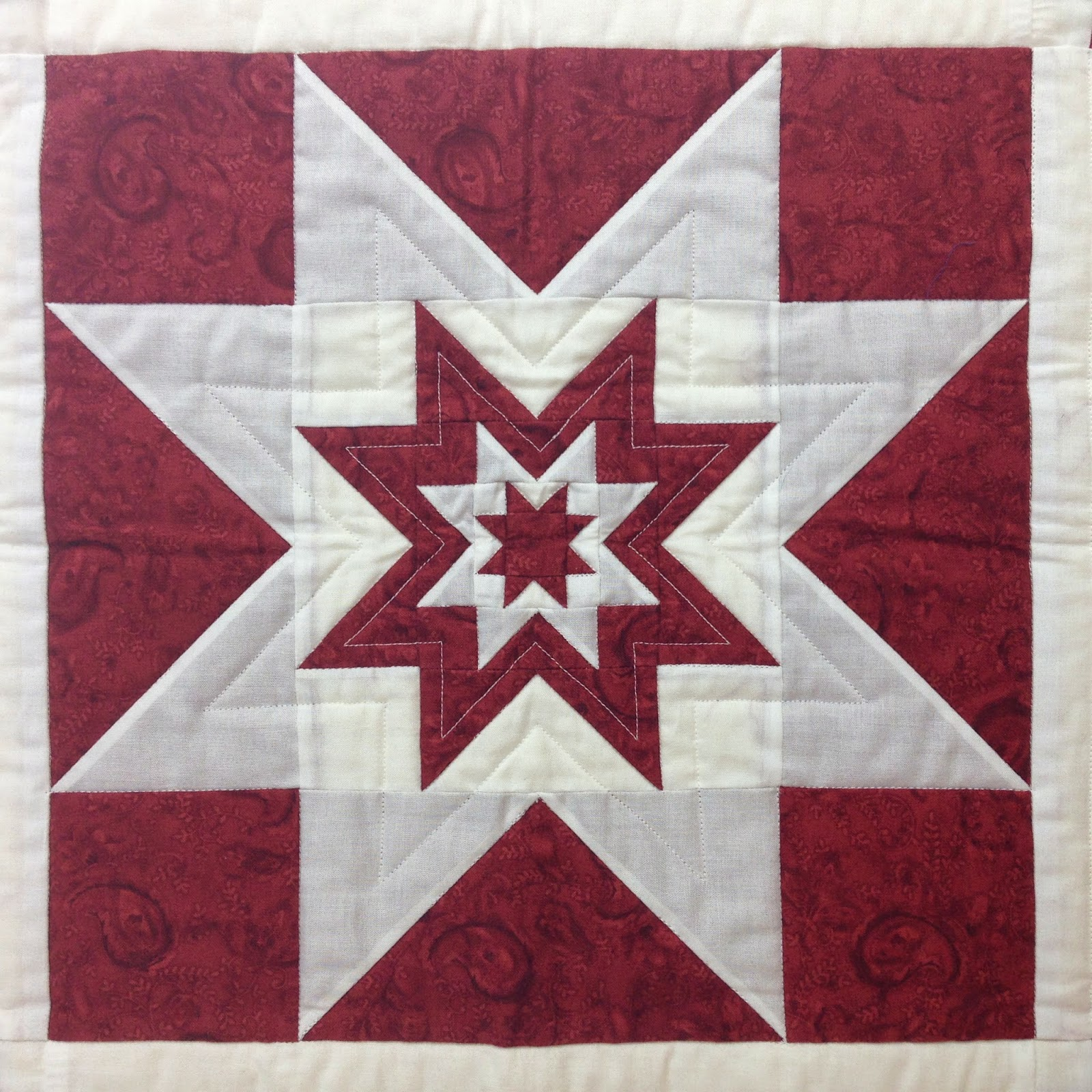 Free Motion Quilting Patterns For Blocks : The Free Motion Quilting Project: 46. How to Piece a Sawtooth Star Block