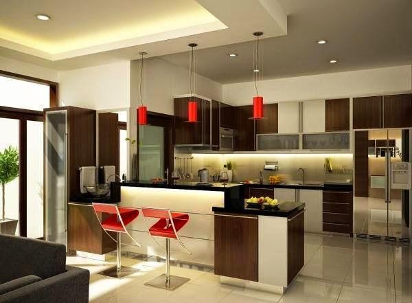 Construindo minha casa clean 21 cozinhas americanas for Banquetas altas modernas