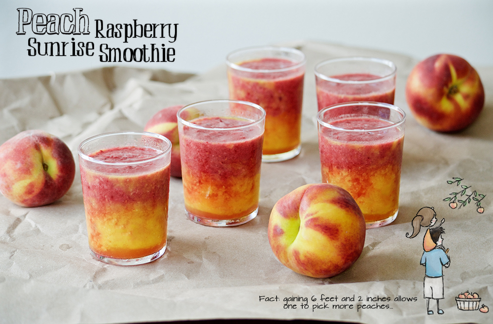 Peach Raspberry Smoothie fruit