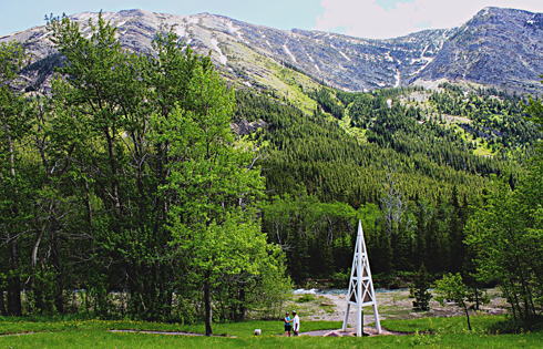 first oil well alberta rocky mountains travel photography