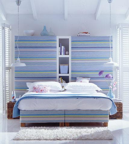 Dormitorios con rayas dormitorios con estilo - Paredes rayas horizontales ...