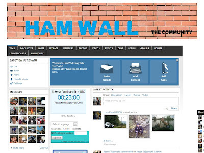 ham wall web site screenshot