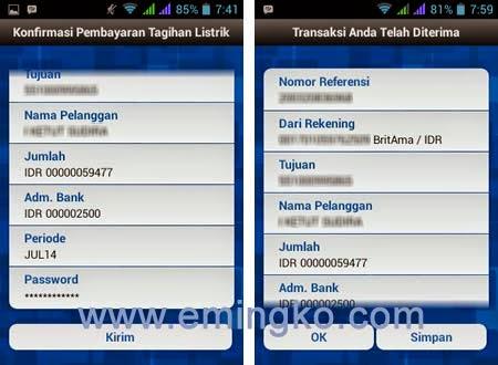 Cara Bayar Tagihan Listrik PLN Melalui BRI Mobile