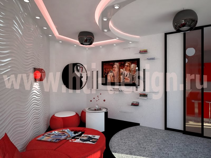 Необычный интерьер 2-комнатной квартиры