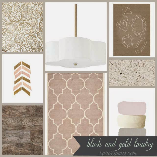 Carissa Miss: Blush and Gold Laundry Design+The Crystal Wash #ad