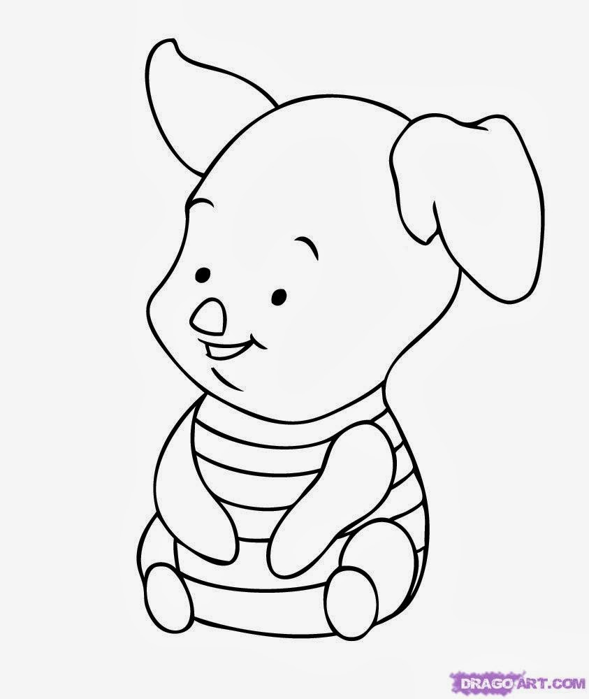 6 baby winnie the pooh coloring pages for Piglet coloring pages