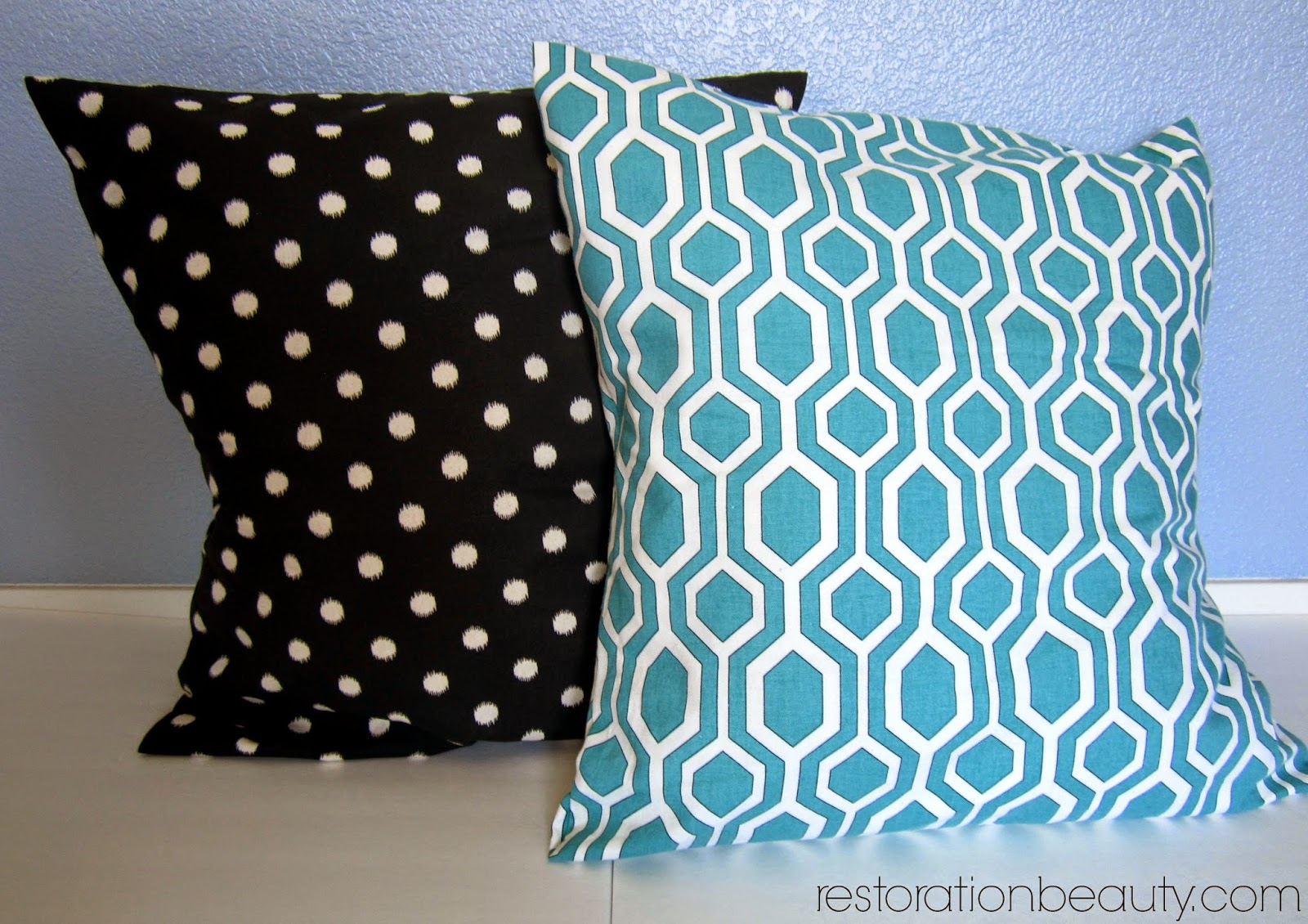 Diy No Sew Oversized Floor Pillows : Restoration Beauty: Easier Than Ever No-Sew Floor Pillows