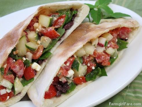 Greek Pita Sandwich Greek Salad Pitas With