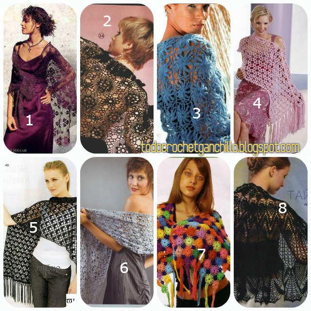 patrones de chales crochet