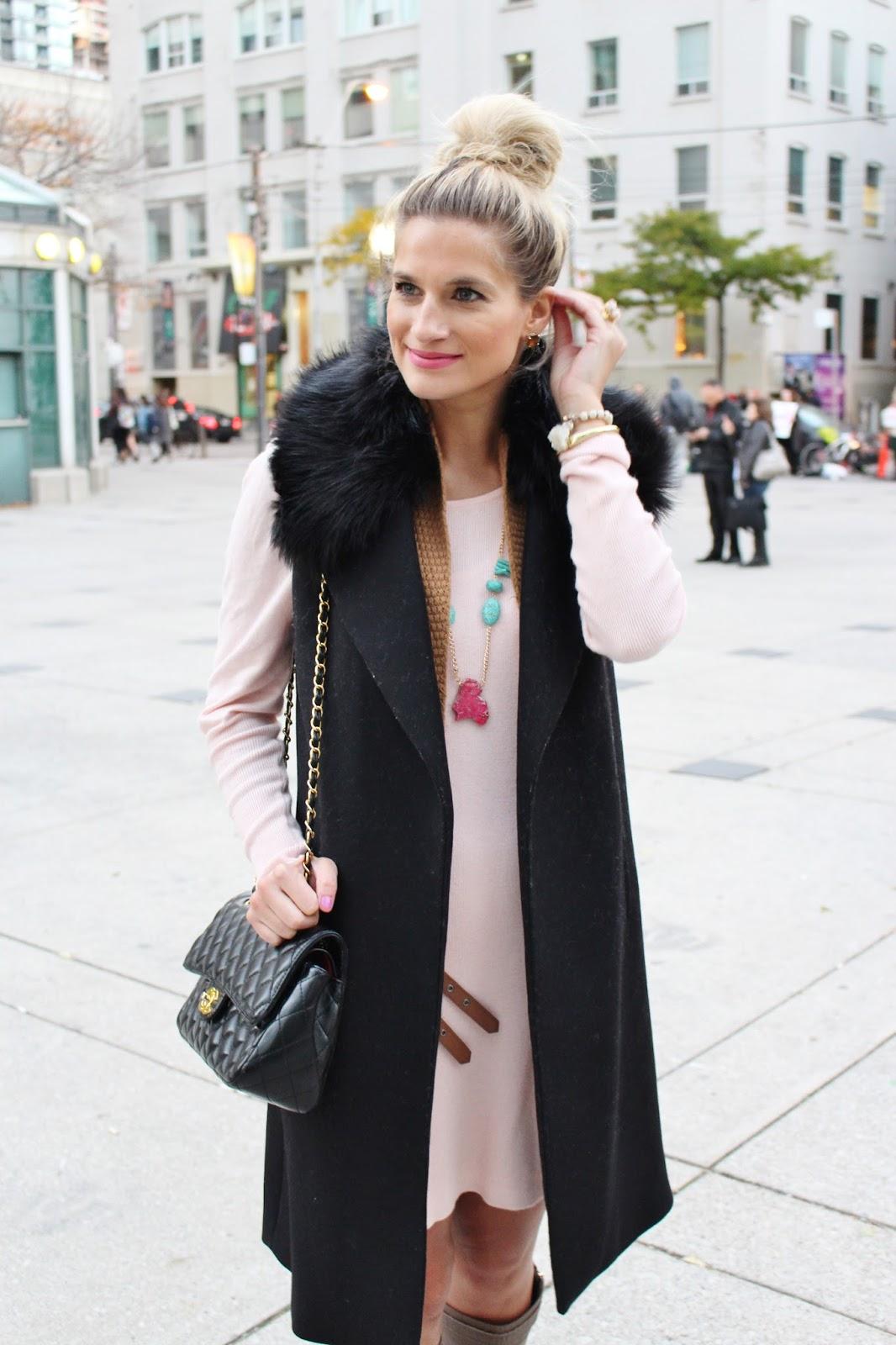 bijuleni - fur duster vest look