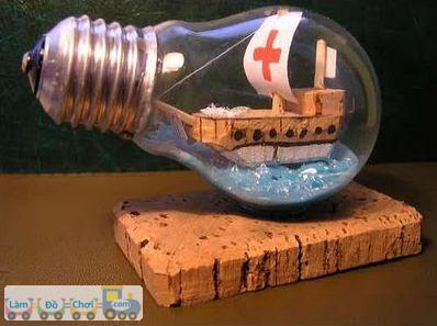 Thuyền Trong Chai thủy tinh Cách Làm Đơn Giản