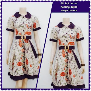 Baju Batik Dress DB 5008