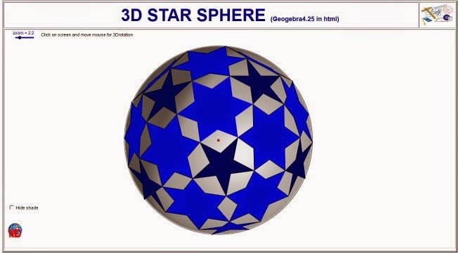 http://dmentrard.free.fr/GEOGEBRA/Maths/export4.25/Spheretoile.html