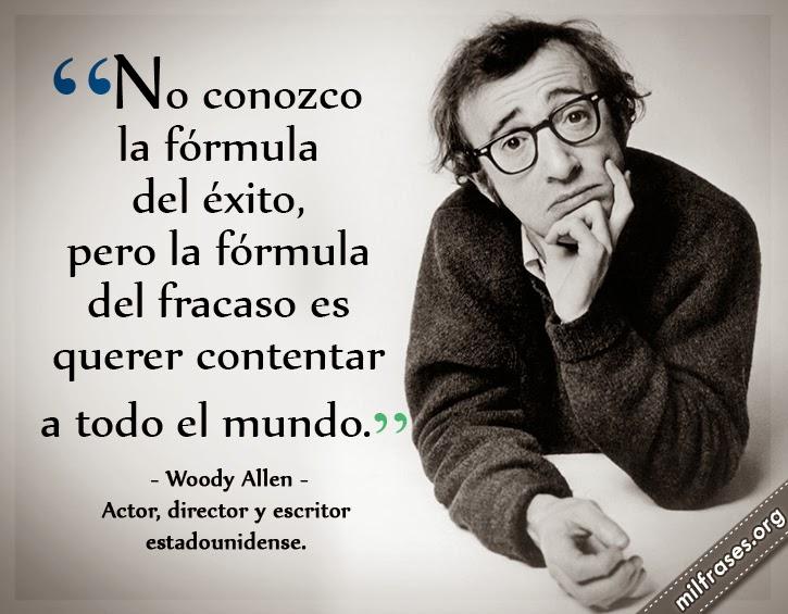 frases, libros y películas de Woody Allen actor, director y escritor estadounidense.