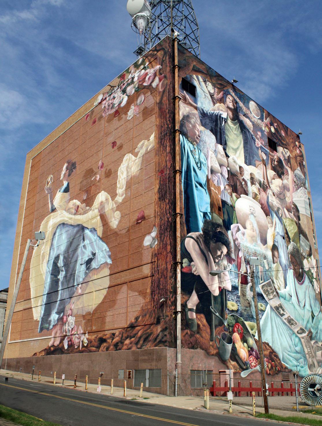 Southern lagniappe shreveport lagniappe for Mural on building