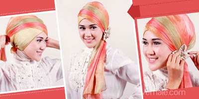 Cara Memakai Jilbab Pashmina Chiffon