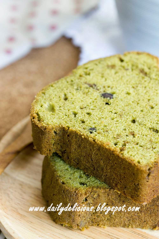 Matcha Pound Cake With Claze