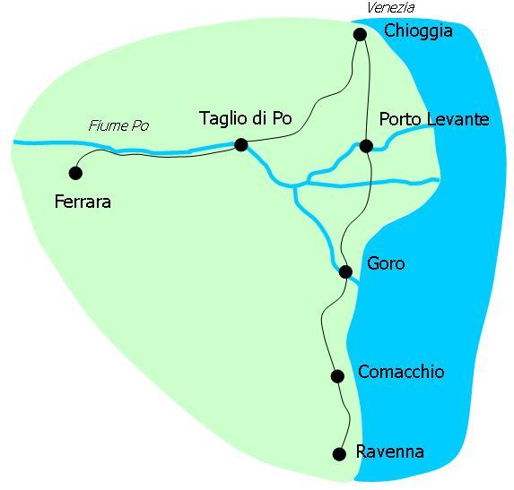 Veloce Cycling And Bike Rental Company Biking The Great Po - Po river world map