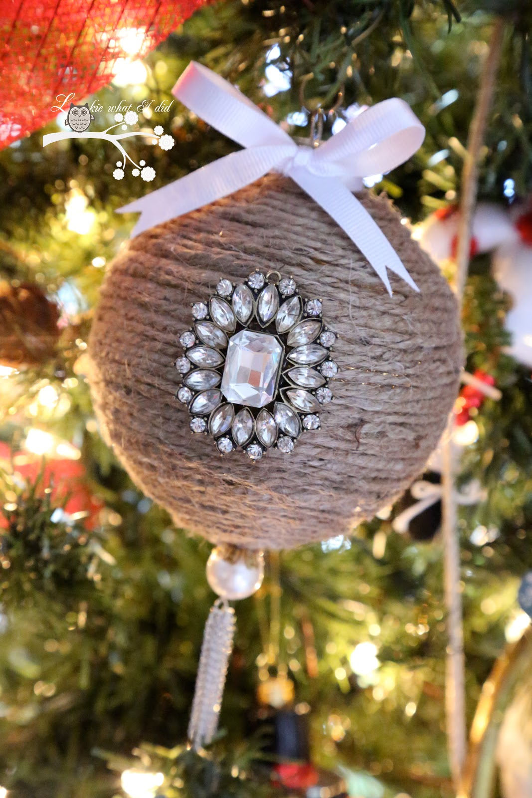Lookie what i did jute wrapped ornament