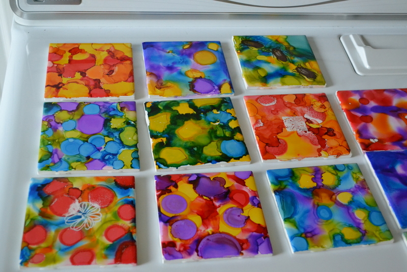 Hayes Homestead Alcohol Ink Tiles