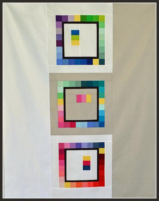 modern patchwork frames quilt by tessa marie handmade