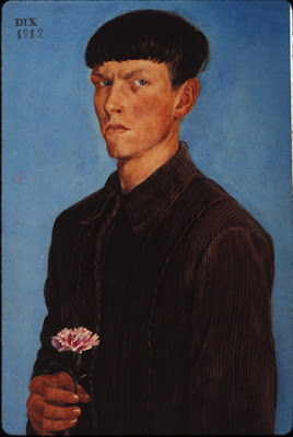 Otto Dix -Self-portrait with carnation, 1912