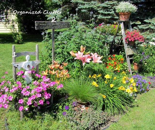 Adding Vertical Interest to the Flower Garden www.organizedclutter.net