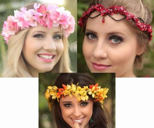 enfeites de cabelos para carnaval coroa de flores