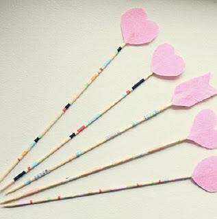 Como Hacer Flechas Romanticas de San Valentin, Manualidades Faciles para Decorar