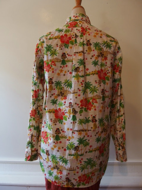 FWK by engineered garments 19th century BD shirt in natural hula girl print