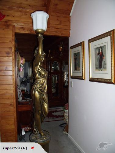 Whilst Browsing Trade Me For A Worthy Piece Of Design To Comment On I Found  A U0027gold Lady Statue Lampu0027, Also Said To Be Known As Athena.